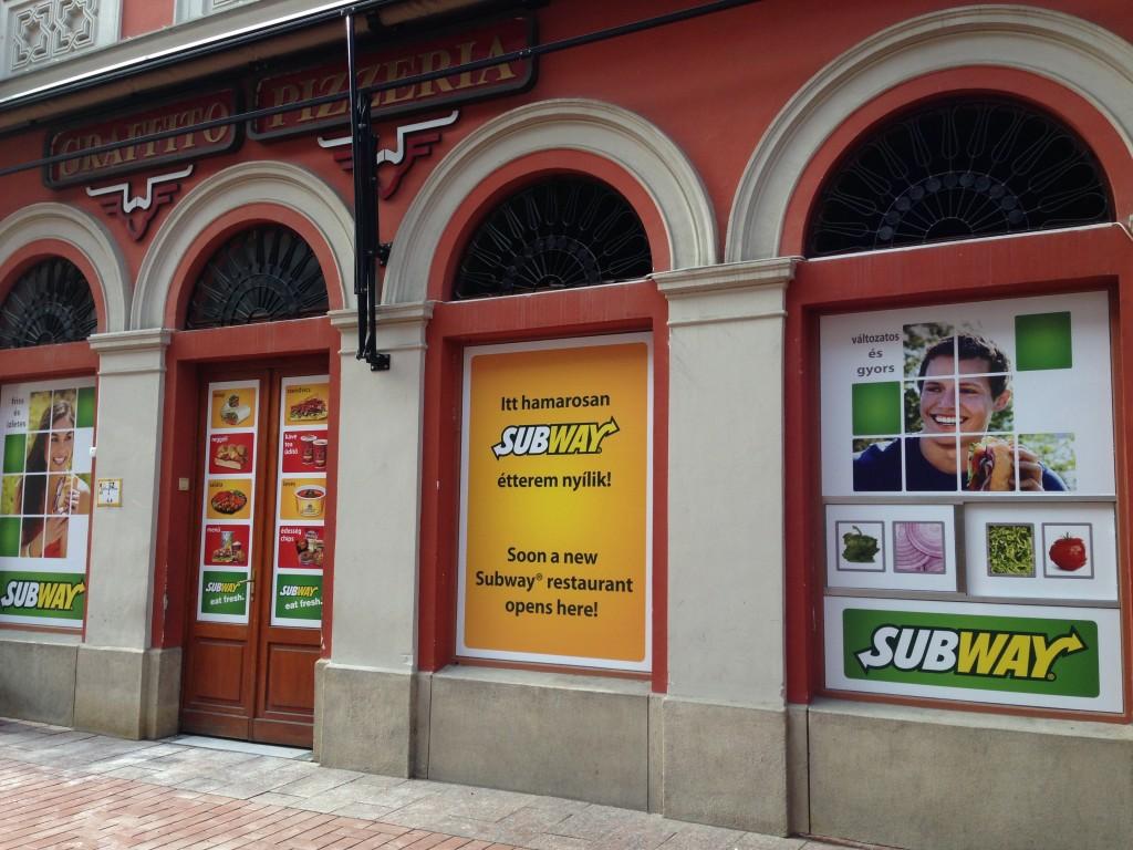 Subway, ahol a Graffito volt